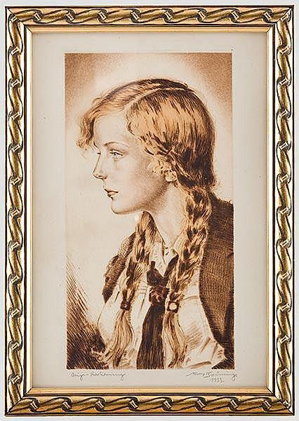 Max Brüning (1887 - 1968) - zwei Radierungen.