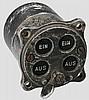 Vierlampengerät für die Fahrgestellanzeige