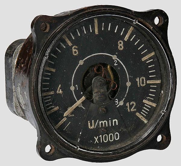 Elektrischer Drehzahlmesser für Strahltriebwerke, z.B. für Me 262