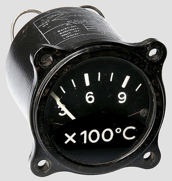 Elektrische Temperaturanzeige für Strahlflugzeuge
