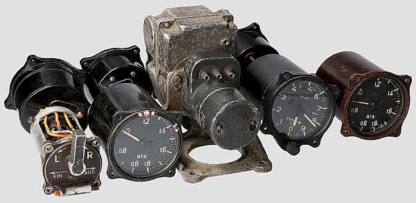 Teilesammlung für das Gerätebrett einer Junkers Ju 88