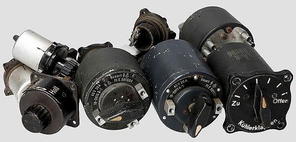 Kleine Schaltersammlung für Messerschmidt Me 109 und andere Flugzeuge