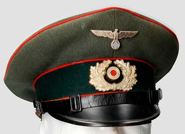 Schirmmütze für Mannschaften/Unteroffiziere der Artillerie