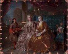 WORKSHOP OF FRANÇOIS DE TROY (1645 -1730) La lecture dans un salon mondain