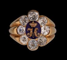 RING with the Emperor Nicholas I's Monogram