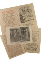 A selection of  ve lea ets and passes for the surrender of the Russian Liberation Army.