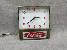 Coca Cola Advertising Clock