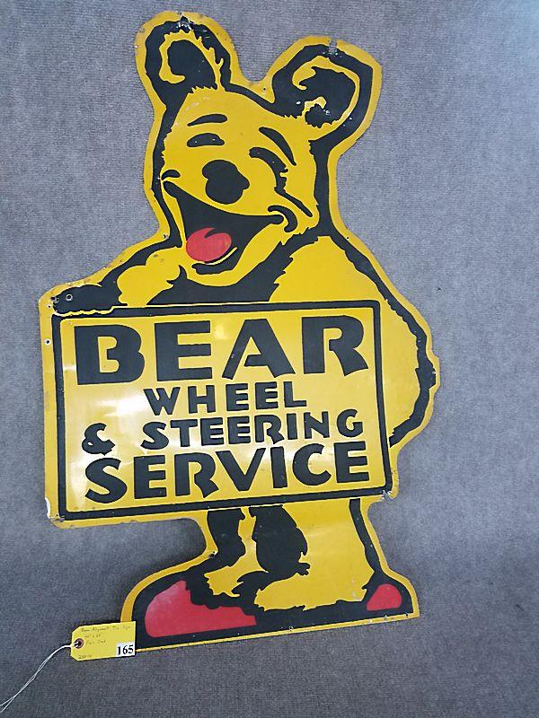 Bear Alignment Tin Sign