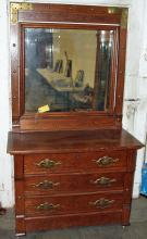 Eastlake Oak Dresser