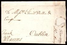 Postal History: 1739 small EL to Dublin with small BIRR