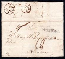Postal History: 1775 EL to London, C-FERGV(S)