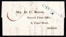 Postal History: 1819 Entire to Dublin, CLCONNELL / 88