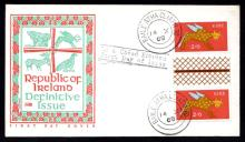 Definitives: 1968 Gerl 2/6 gutter pair on FDC