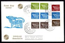 Definitives: 1971 booklet pairs and coil strip on FDC