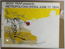 Lithograph of Wolf Trap Presents Metropolitan Opera