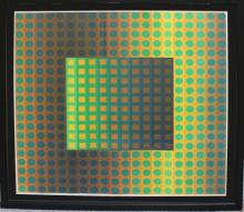 Lithograph After Vasarely