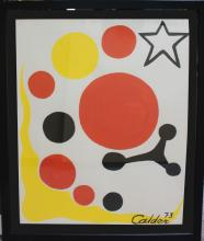 Gouache on Paper Painting After Calder