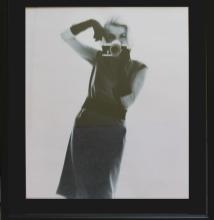 Marilyn Monroe with Camera After Bert Stern