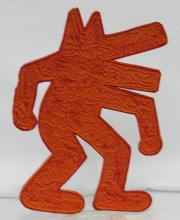 Pressed Cardboard Figure After Keith Haring