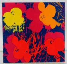 Silkscreen on Canvas Flowers After Warhol