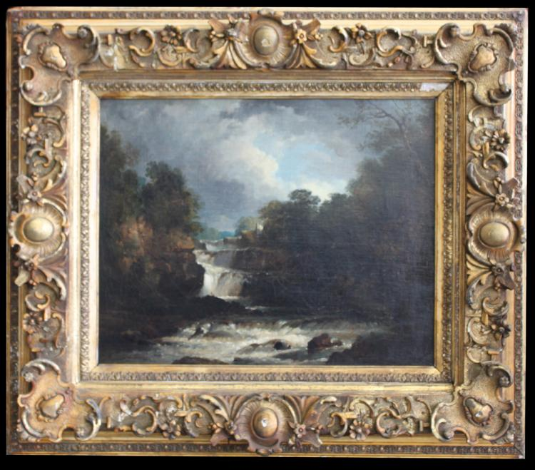 19th Century French Barbizon School Oil On Canvas Painting