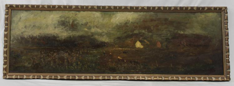 American Oil on Panel Painting by Charles Henry Miller 1842-1922