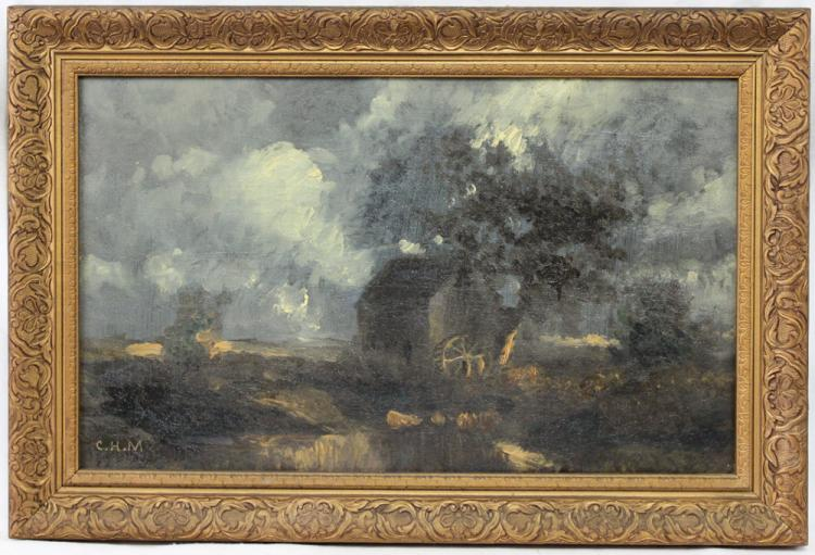American Oil on Canvas Painting by Charles Henry Miller 1842-1922