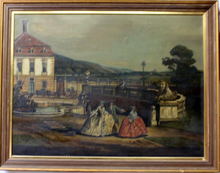 Early 20th Century Oil on Canvas Painting by Hermim Ginz