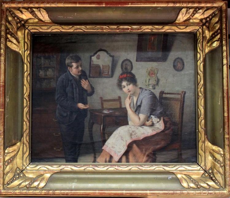 19 Century German Oil on Canvas Painting by Alois Heinrich Priechenfried (1867-1953)