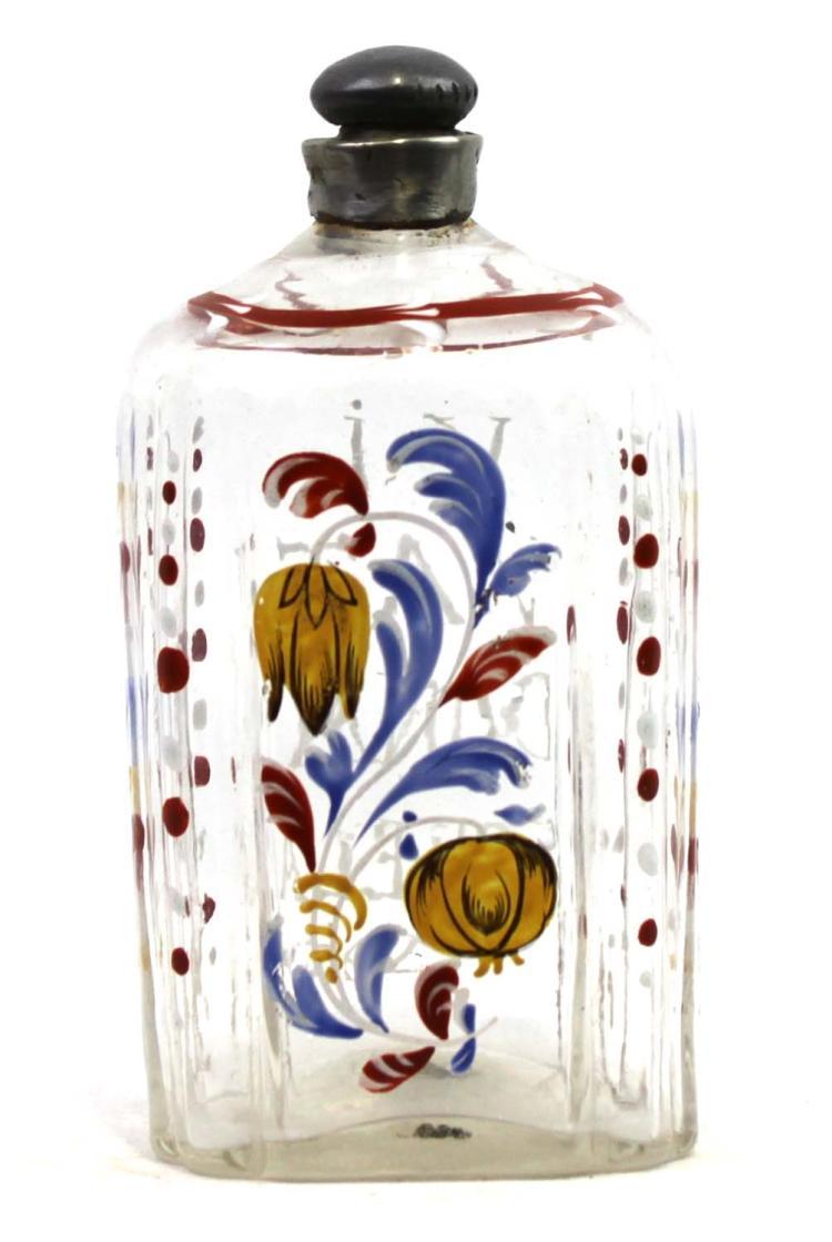 Bohemia, Czech Republic Non-lead glass with enamel decoration Circa 1750's