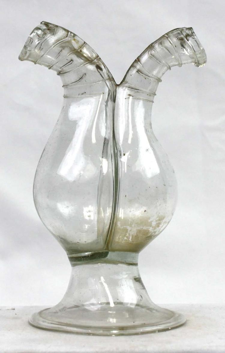 Probably Spanish 18 Century Glass Cruet Facon de Venise
