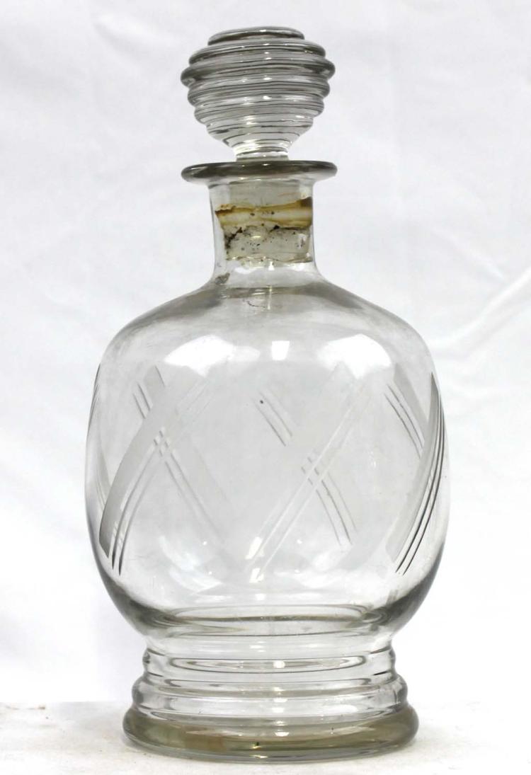 Probably 18 Century Italian Bottle Glass