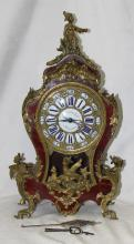 19 Century French Boulle work Mantel Clock Caldwell