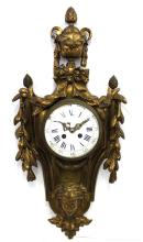 19th Century French Bronze Wall Clock