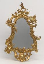Late 19th early 20th Century French Bronze Mirror