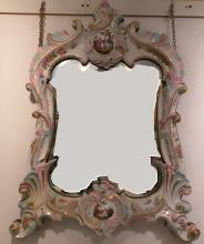 19th century German Porcelain Mirror