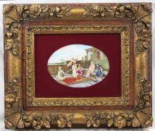 19 Century Hand Painted French Porcelain Plaque