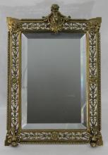 19th Century French Bronze Mirror Frame