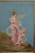 Large 20 Century French Framed Oil on Canvas Painting