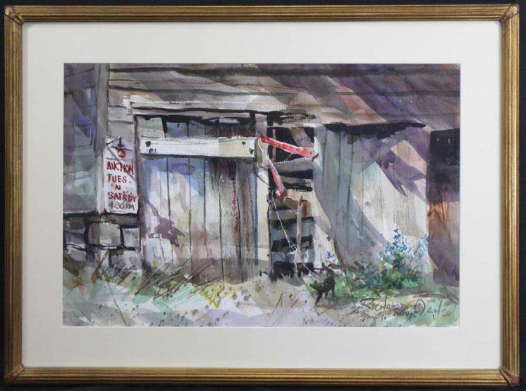 Modern American Watercolor on Paper by Richard Ochs