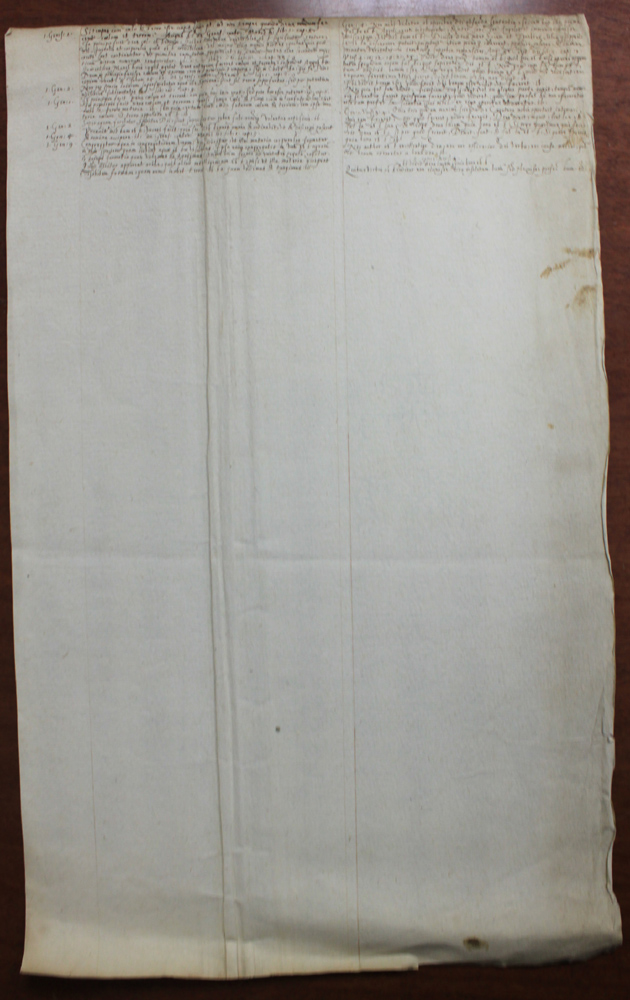 Probably 18 Century French Manuscript Document on Paper