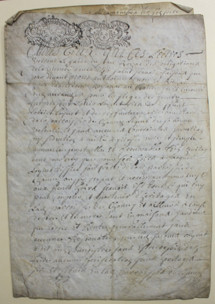 1747 (18 Century) French Manuscript Document on Parchment