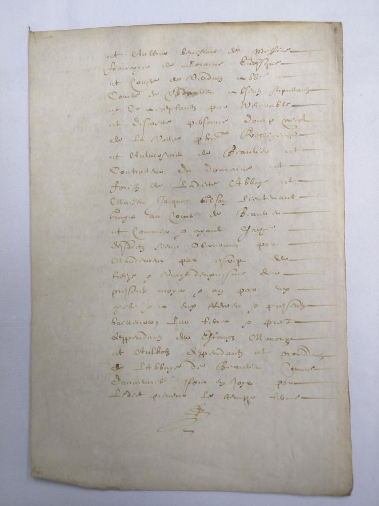 One Manuscript Leaf Parchment