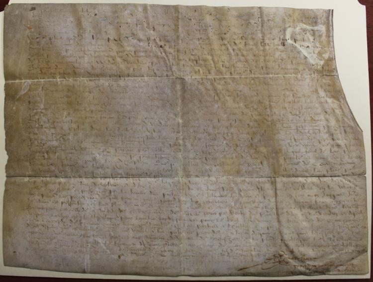 1633 (17 Century) French Manuscript Document on Parchment