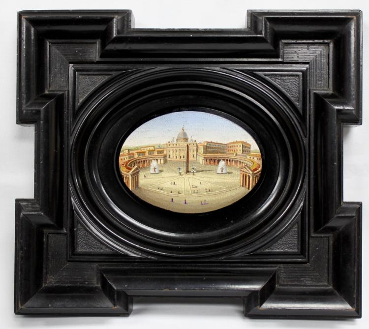 Extremely Fine 19th Century Italian Micro Mosaic Plaque