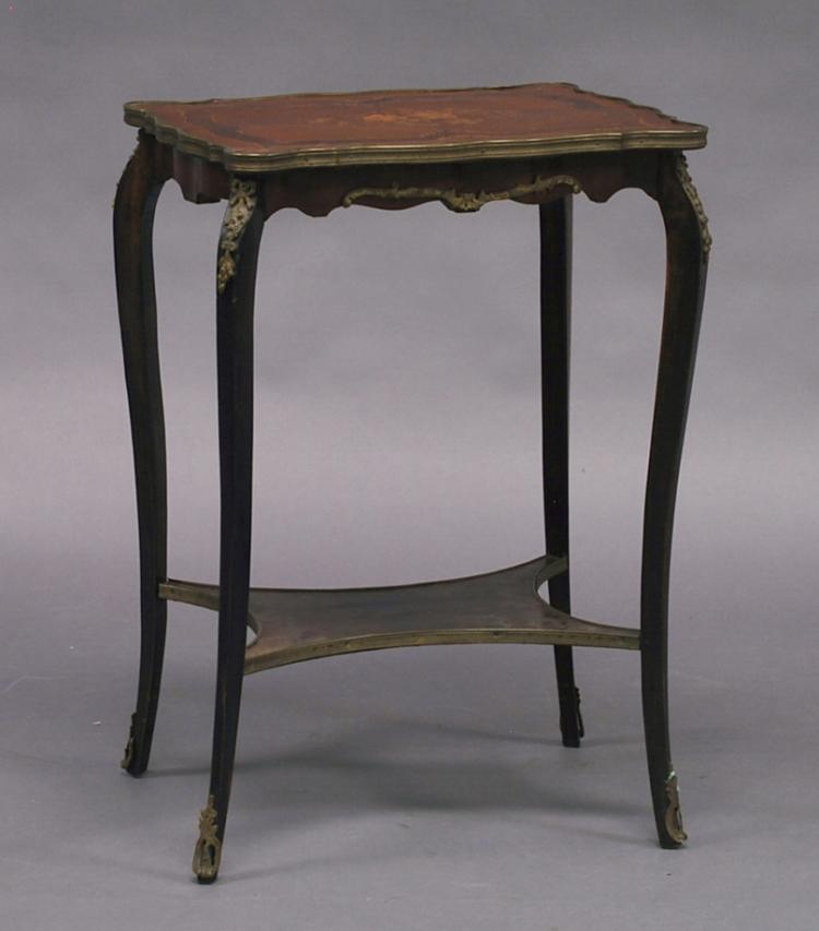Late 19th Century, French Louis XV-style Marquetry-Inlaid Side Table