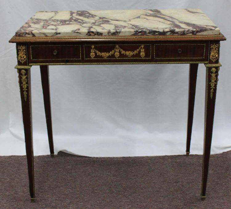 French 19-Century Louis XVI Style Side Table