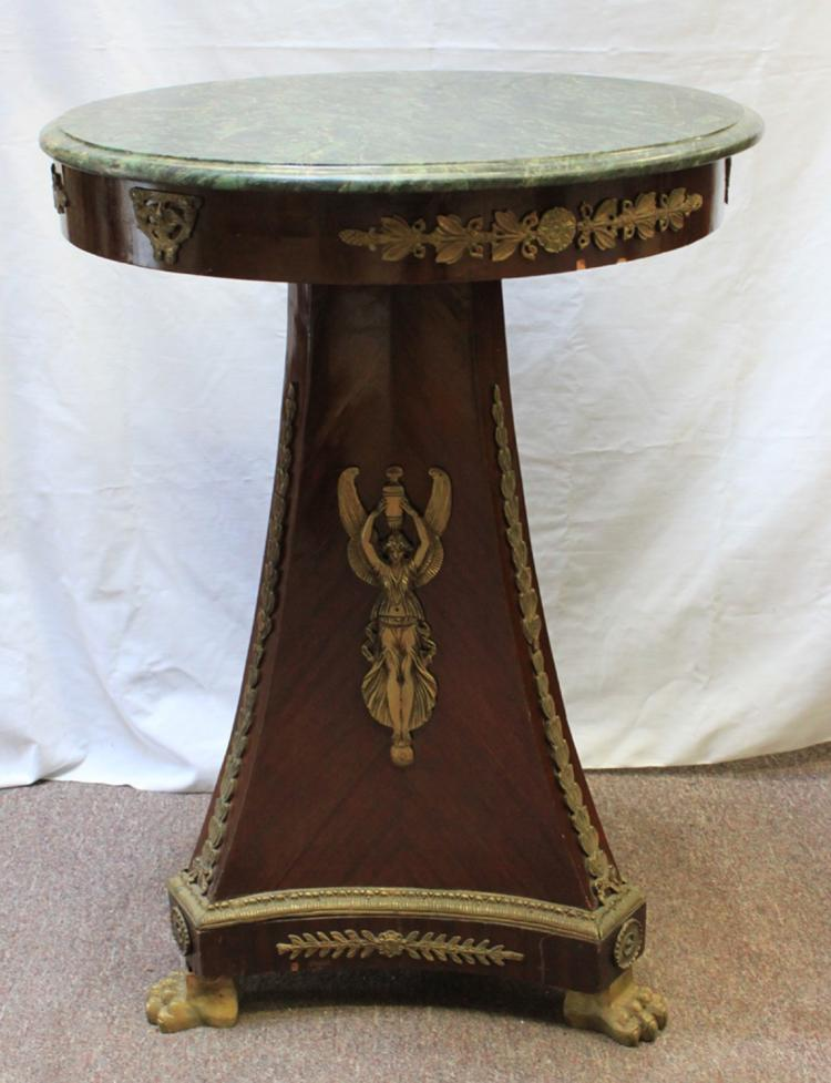 First quarter 20th Century Table with Marble Top