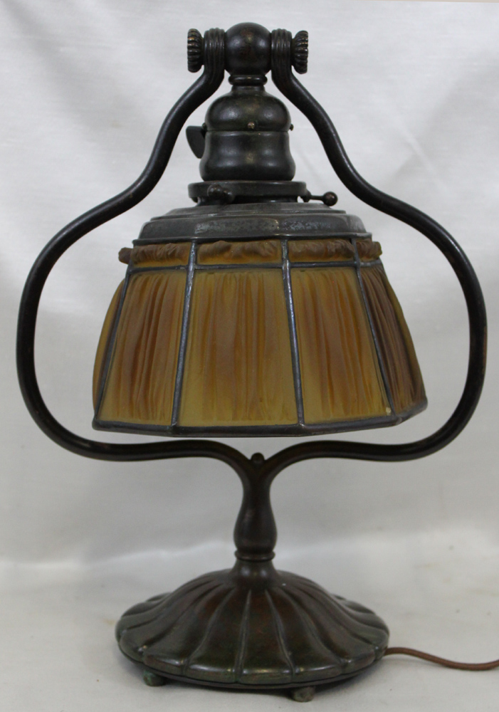 Tiffany Studios Glass Lamp Shade Signed