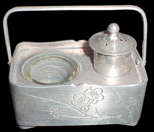 Japanese Sterling Silver Ink Holder